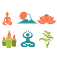 asian relax and meditation vector image