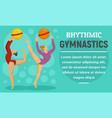 ball rhythmic gymnastics concept banner flat vector image vector image