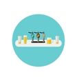 Bar counter icon vector image