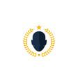 beer human head logo icon design vector image