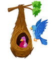 Bird hatching in nest and bird flying outside vector image vector image