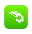 bobcat machine icon green vector image vector image