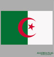 bright background with flag of algeria vector image