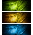 bright textural banners collection vector image vector image