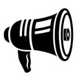 bullhorn icon simple style vector image vector image