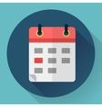 Calendar or mobile app organizer icon vector image
