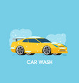 car wash flat design vector image vector image