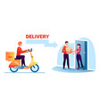 cartoon courier worker man character delivering vector image