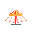 cartoon icon of swinging carousel with seats on vector image vector image