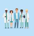 cartoon of hospital medical vector image vector image