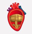 cartoon organs heart vector image