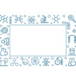 chemistry horizontal frame with chemical vector image vector image