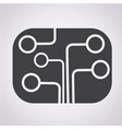 circuit board icon technology icon vector image