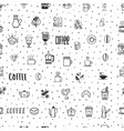 coffee seamless pattern grains of vector image