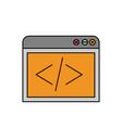 color sketch silhouette browser web development vector image