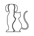 cute animal silhouette isolated icon vector image vector image