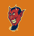 Devil Fang In Retro Color vector image
