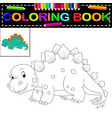 dinosaur coloring book vector image vector image