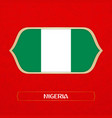 flag of nigeria is made in football style vector image vector image