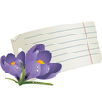 floral notepaper vector image vector image