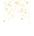 flying gold star sparkle background vector image vector image