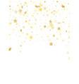 flying gold star sparkle background vector image
