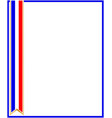 french patriotic frame with ribbon symbol vector image vector image