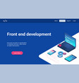 front end development lp template vector image
