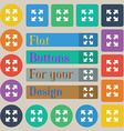 Full screen icon sign Set of twenty colored flat vector image