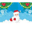 funny santa claus card vector image