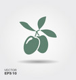 green olive branch logo vector image vector image