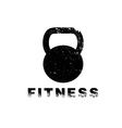 grunge kettlebell design template vector image vector image