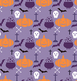 Halloween pattern23 vector image