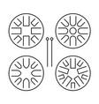 hapi drum templates set handpan or glucophone vector image vector image