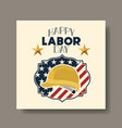 happy labor day with helmet and usa flag vector image vector image