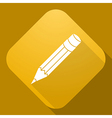 icon of Pencil with a long shadow vector image vector image