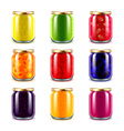 Jam jars icons set vector image vector image