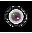 lens simple glass scale focus zoom vector image