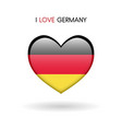 love germany symbol flag heart glossy icon on a vector image vector image