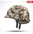 Military modern camouflage helmet Side view