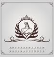 monogram luxury with decorative frame vector image vector image