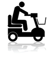 Motorized chair vector image vector image