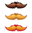 Mustaches Set2 vector image