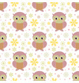 pattern with owl vector image vector image