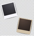 photo frame on white a plaid background vector image vector image
