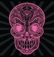 pink mexican sugar skull tattoo vector image vector image