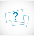 question mark doodle question mark as blue speech vector image