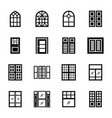 roller blinds icons vector image vector image