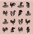 rooster logo cock cute cartoon vector image vector image