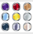 round button collection vector image vector image